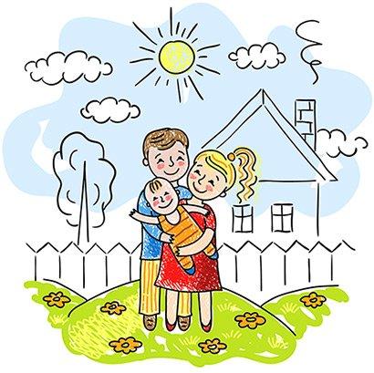 Молодая семья рисунки