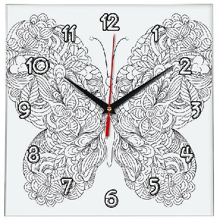 часы раскраска антистресс бабочка прикольные часы и